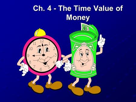 Ch. 4 - The Time Value of Money Topics Covered Future Values Present Values Multiple Cash Flows Perpetuities and Annuities Effective Annual Interest.