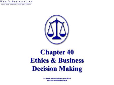 an analysis of the role of business ethics in business decision making Ethical decision making helps people make difficult choices when faced with an ethical dilemma would it be right for a ceo to keep a contractual bonus when the business is making lower-paid colleagues redundant ethical decision making typically examines three ft articles & analysis.