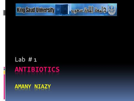 Antibiotics AMANY NIAZY