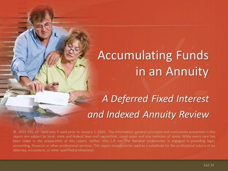 Accumulating Funds in an Annuity