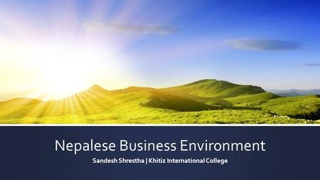 Nepalese Business Environment