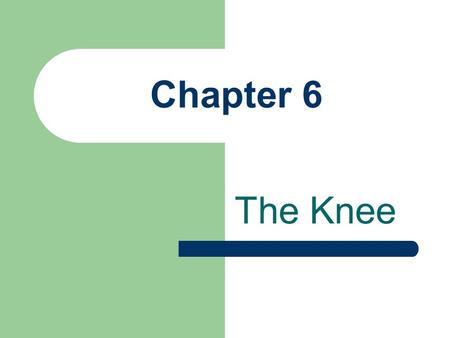 Chapter 6 The Knee.