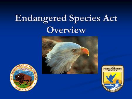 Endangered Species Act Overview