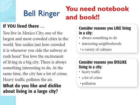 Bell Ringer You need notebook and book!!. Population Big Idea: Population studies are an important part of geography.