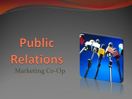 Public Relations Marketing Co-Op.