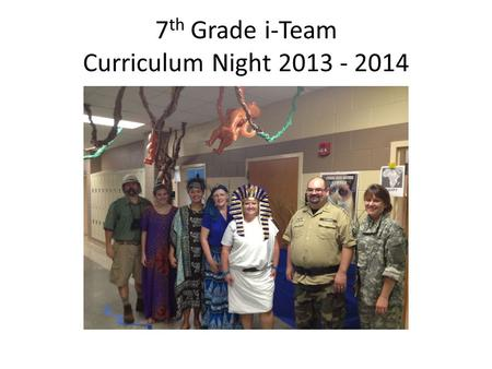 7th Grade i-Team Curriculum Night