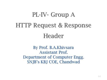 PL-IV- Group A HTTP Request & Response Header