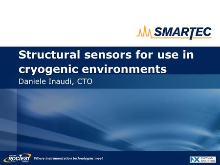 Structural sensors for use in cryogenic environments Daniele Inaudi, CTO.