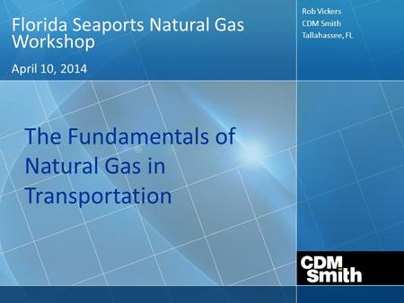 The Fundamentals of Natural Gas in Transportation