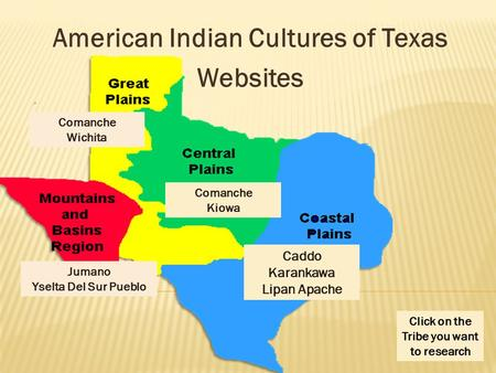 American Indian Cultures of Texas Websites