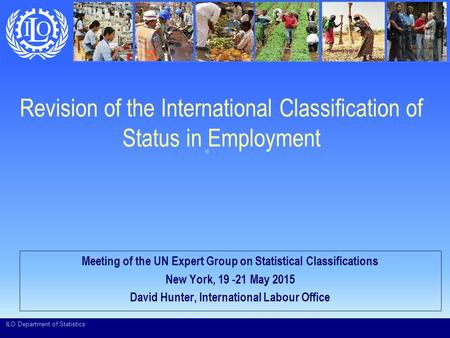 Revision of the International Classification of Status in Employment