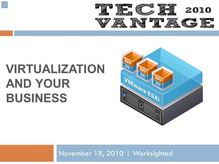 VIRTUALIZATION AND YOUR BUSINESS November 18, 2010 | Worksighted.
