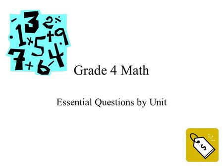 Grade 4 Math Essential Questions by Unit. Unit 1 Geometric Figures Essential Questions.