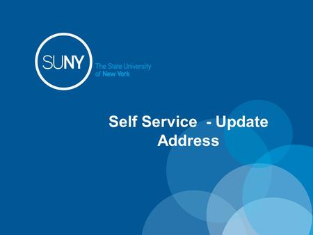 Self Service - Update Address. Self Service Features: Time and Attendance – available to employees that are active in using TAS. For those employees that.