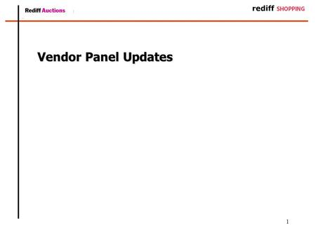 1 Vendor Panel Updates. 2 Summary of Changes –Pending orders : Viewing and Action –List address modification –Process to Update AWB numbers –Processing.