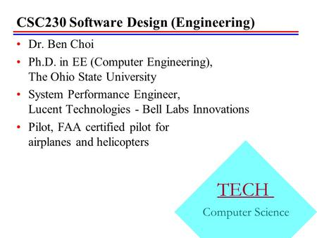 CSC230 Software Design (Engineering)