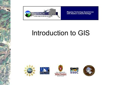 Introduction to GIS.