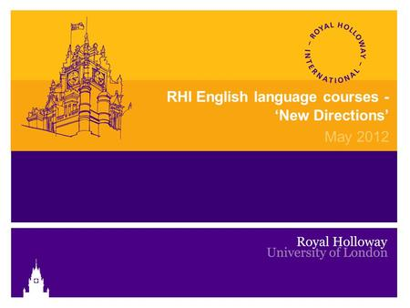 RHI English language courses - 'New Directions' May 2012.