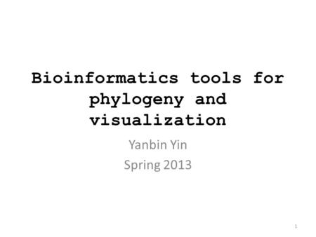 Bioinformatics tools for phylogeny and visualization