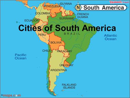 Cities of South America