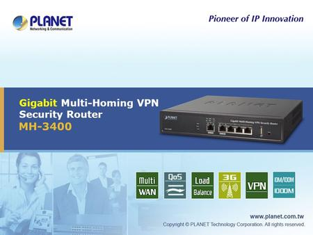 Gigabit Multi-Homing VPN Security Router