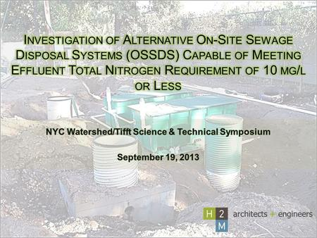 NYC Watershed/Tifft Science & Technical Symposium September 19, 2013