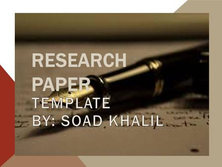 research paper thesis placement