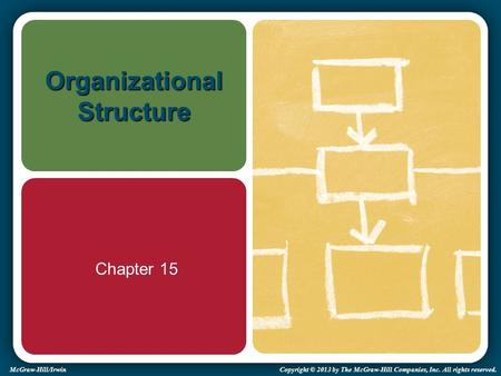 McGraw-Hill/Irwin Copyright © 2013 by The McGraw-Hill Companies, Inc. All rights reserved. Organizational Structure Chapter 15.
