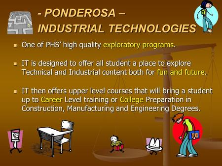 - PONDEROSA – INDUSTRIAL TECHNOLOGIES One of PHS' high quality exploratory programs. One of PHS' high quality exploratory programs. IT is designed to offer.