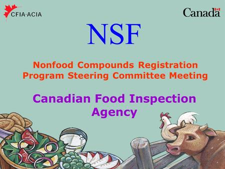 NSF Canadian Food Inspection Agency