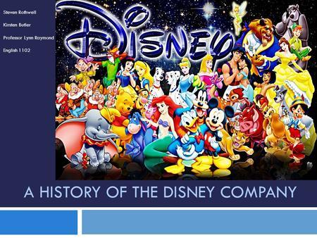 walt disney company history pdf