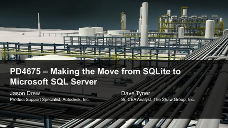 PD4675 – Making the Move from SQLite to Microsoft SQL Server