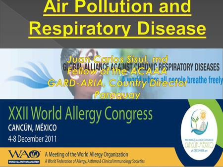 In recent decades, reported evidence on the association between air pollutants and the increase in emergency visits for respiratory diseases Recent estimates.