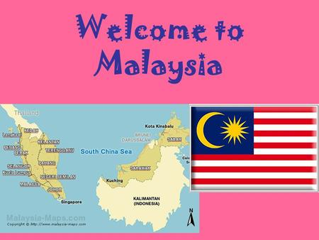 Welcome to Malaysia. Malaysia is a country that shares the border with Thailand on the Southeast Asia peninsula. The country is full of coastal plains.