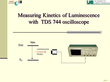 Measuring Kinetics of Luminescence with TDS 744 oscilloscope