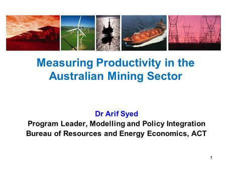 Measuring Productivity in the Australian Mining Sector