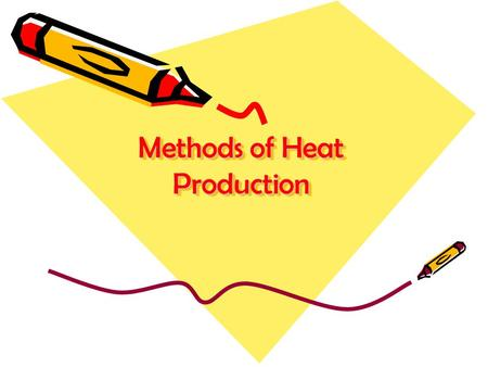 Methods of Heat Production.  Reflex heating  Shoulder (proximal)  vasodilation  Hand (distal)  vasoconstriction followed by vasodilation.
