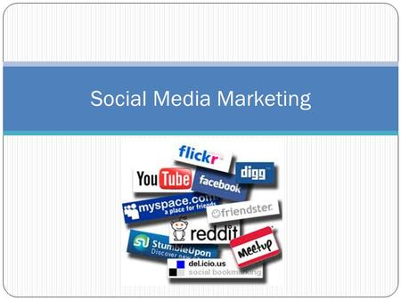 Social Media Marketing. The Concept of Social Media Social media is online applications, platforms and media which aim to facilitate interaction, collaboration.