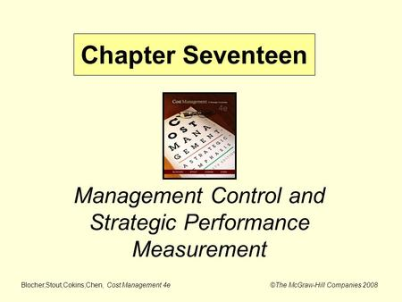 Management Control and Strategic Performance Measurement