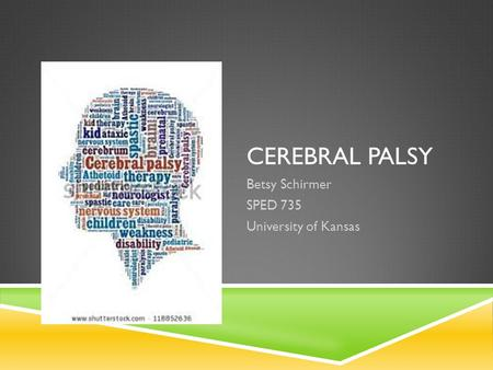 CEREBRAL PALSY Betsy Schirmer SPED 735 University of Kansas.