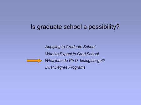 What to expect in graduate school?