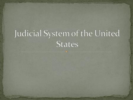 The Judicial branch was established by Article III of the constitution. The function of the judicial branch is to interpret laws, apply them to court.