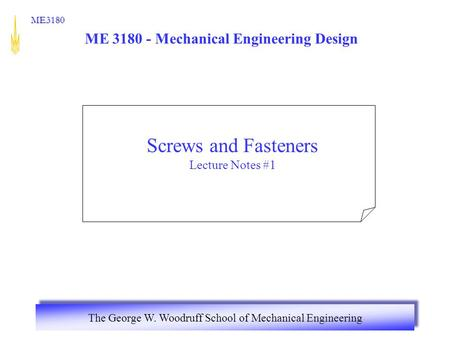 ME Mechanical Engineering Design