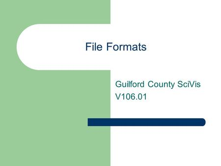 Guilford County SciVis V106.01
