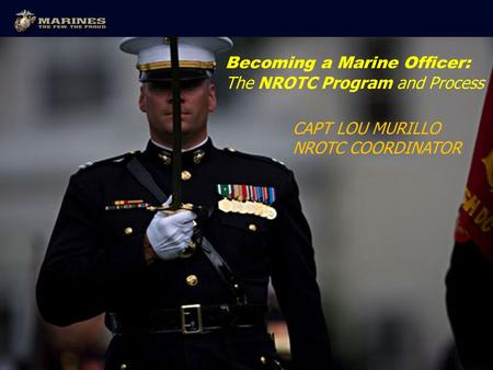 Becoming a Marine Officer: