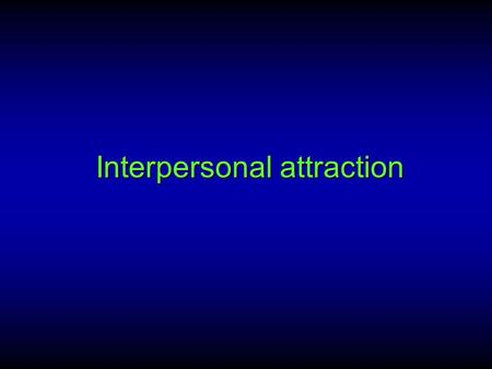 SIMILARITY/ ATTRACTION THEORY (Social Science)