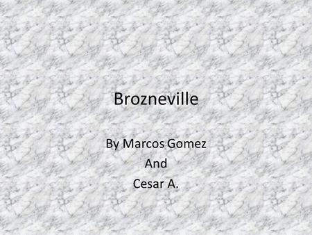 Brozneville By Marcos Gomez And Cesar A.. Great Migration The Great Migration was started by an estimate of 6 million African Americans moving from the.