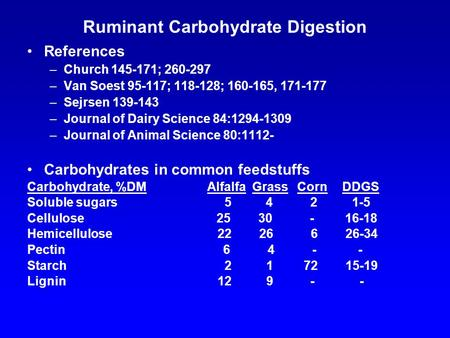 digestion of carbohydrates in ruminants pdf