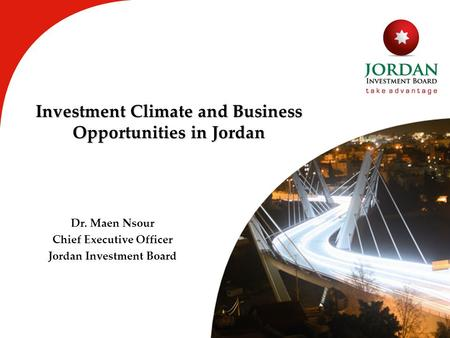 Investment Climate and Business Opportunities <strong>in</strong> Jordan