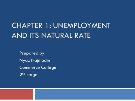 Chapter 1: Unemployment and Its Natural Rate